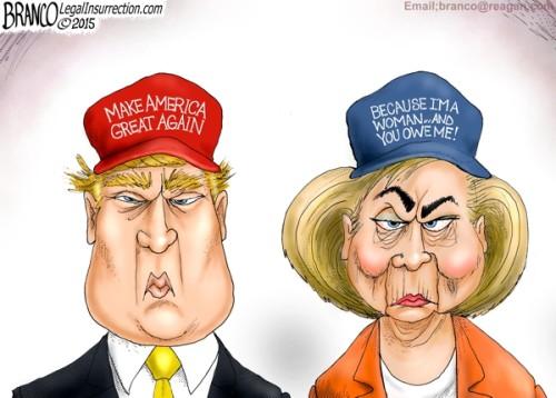 Branco-Trump-and-Hillary-500x358