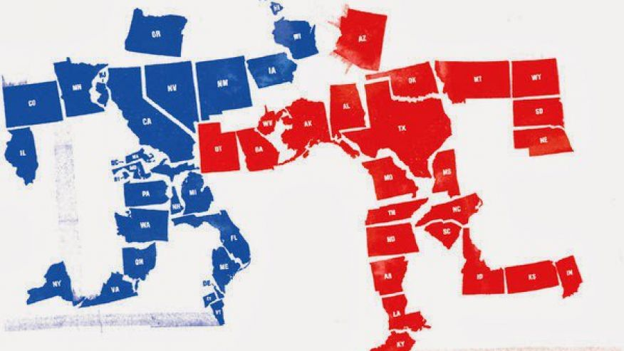 are red or blue states better job creators.